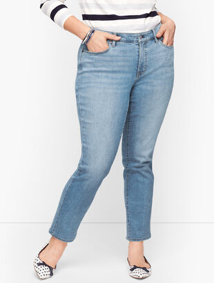 Plus Size Exclusive Slim Ankle Jeans - Wythe Wash