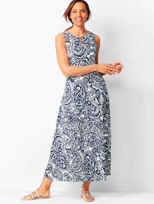 Knit Jersey Maxi Dress - Paisley