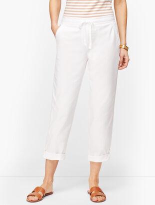 Summer Twill Slim Leg Crop Pants