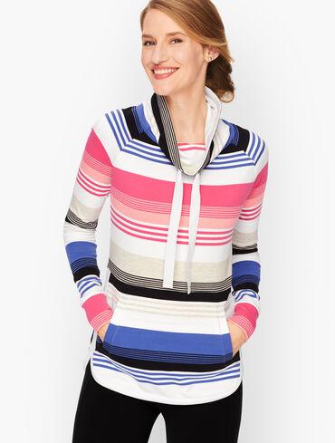 Funnel Neck Pullover - Stripe