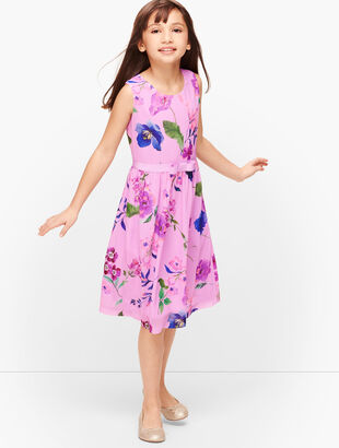 Girls Botanical Fit & Flare Dress