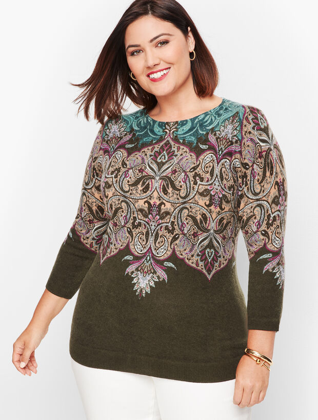 Cashmere Audrey Sweater - Paisley