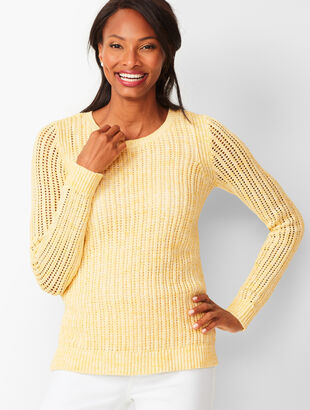 8c7b8c999f396 Open-Stitch Sweater - Space-Dyed