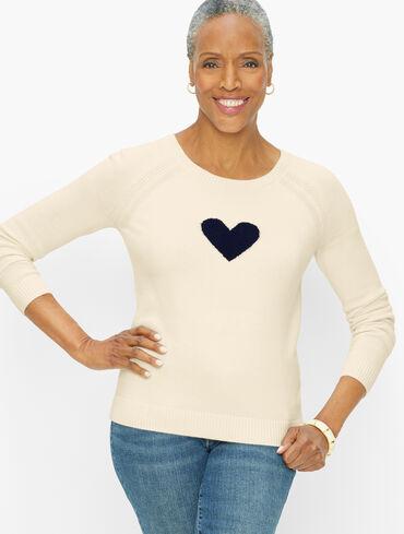 Raglan Intarsia Heart Pullover