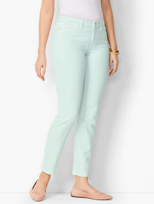 Slim Ankle Jeans - Curvy Fit - Light Cool Mint