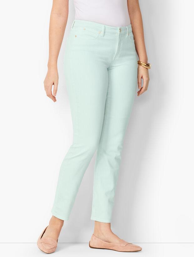 Slim Ankle Jeans - Curvy Fit - Light Cool Mint