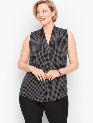 Faux Wrap Shell - Geo Print