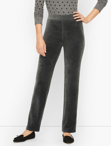 Velour Straight Leg Pants