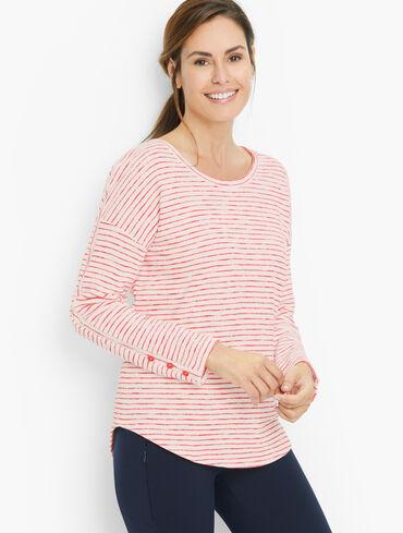 Idyllic Stripe Cotton Scoop Neck Pullover