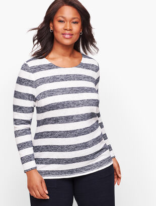 Stripe Cutout Back Top - Bicolor