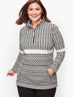 Fair Isle Half Zip Pullover