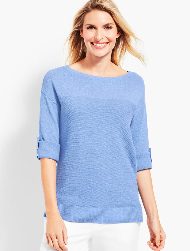 Roll-Cuff Sweater
