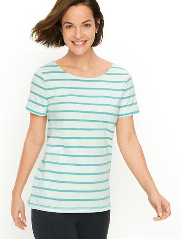 Twist Back Stripe Jersey Tee