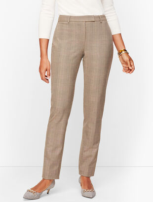 Modern Bi-Stretch Pants - Curvy Fit - Houndstooth