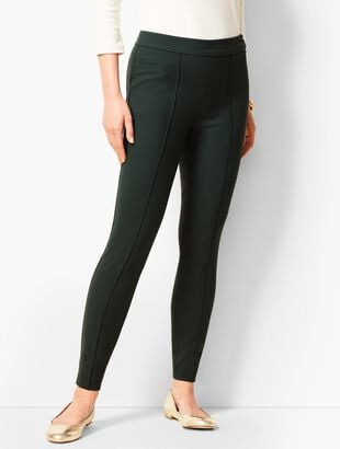 Bi-Stretch High-Waist Straight Leg Pants