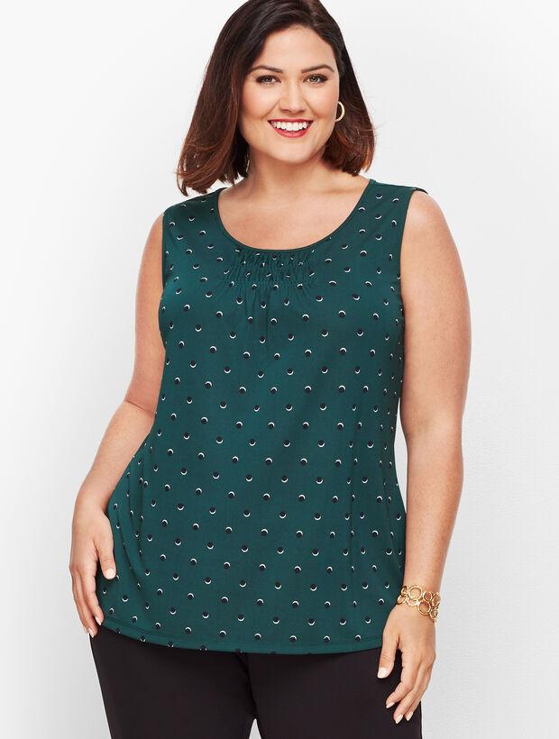 Knit Jersey Dot Print Tank