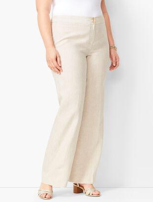 Plus Size Linen Palazzo Pants