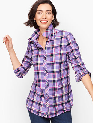 Classic Flannel Shirt - Winter Orchid Plaid