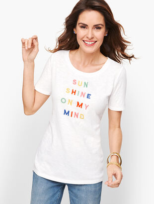 """Sunshine On My Mind"" Tee"