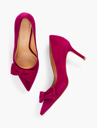 Erica Bow Pumps - Suede