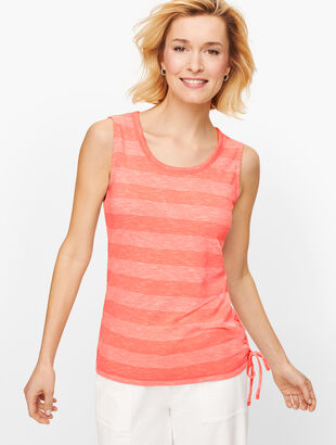Lace Up Stripe Tank