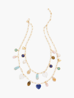 Semiprecious Stone Layered Necklace