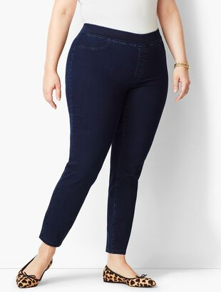 Plus Size Pull-On Denim Jegging - Rinse Wash