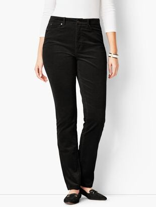 High-Rise Straight-Leg Pants - Cords/Curvy Fit