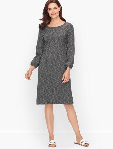 Jersey Knit Stripe Dress -  Stripe