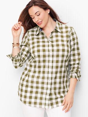 Classic Cotton Shirt - Bayleaf Gingham