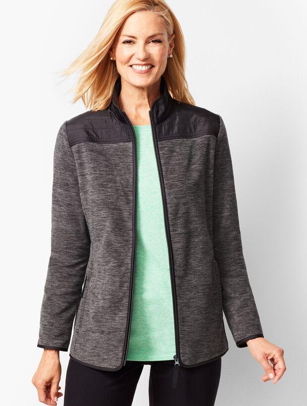 Heathered Polar Fleece Jacket
