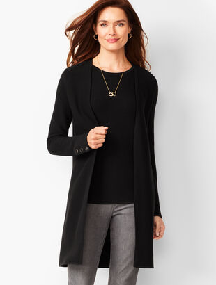 Open-Front Modern Ottoman Cardigan - Solid