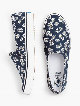 Keds® Double Decker Slip-On Sneakers - Daisy