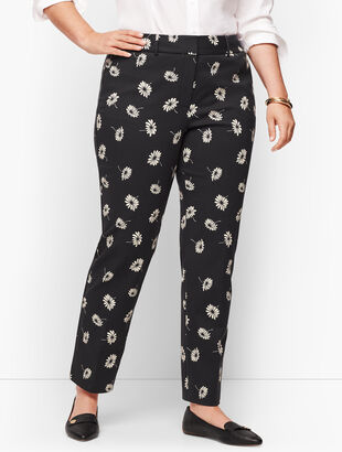 Plus Size- Talbots Hampshire Ankle Pants - Floral
