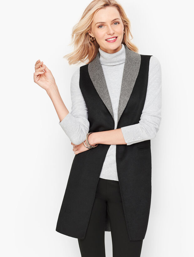 Double Face Shawl Collar Vest
