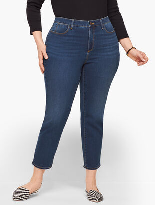 Plus Size Exclusive Jegging Crops - Curvy Fit - Myrtle Wash