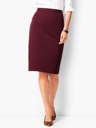 Refined Ponte Pencil Skirt