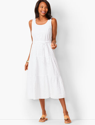 Tonal Stripe Tiered Maxi Dress
