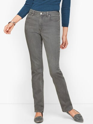 Straight Leg Jeans - Deep Grey - Curvy Fit