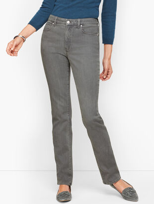 Straight Leg Jeans - Curvy Fit - Deep Grey
