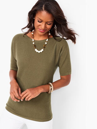 Dolman Sleeve Bateau Neck Sweater
