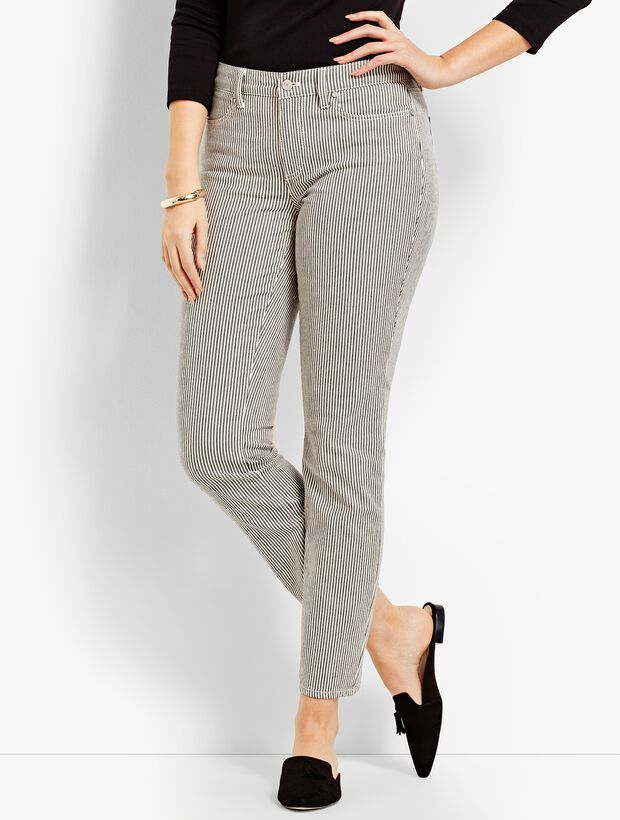 Denim Slim Ankle - Curvy Fit/Railroad Stripe