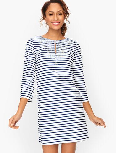 Cabana Life® Stripe Embroidered Tunic - Essentials
