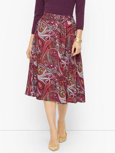 Midi Slip Skirt - Floral Paisley