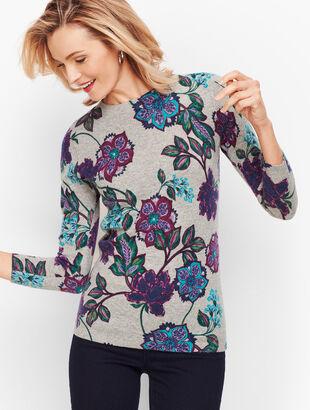 Cashmere Audrey Sweater - Floral