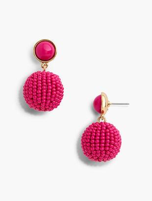 Beaded Sphere Earrings