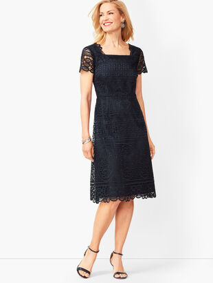 Medallion Lace A-Line Dress