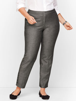 Plus Size Talbots Hampshire Button-Hem Ankle Pants - Sharkskin