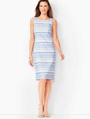 Stripe Biscay Sheath Dress