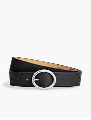 Plus Size Soft Pebble Leather Belt